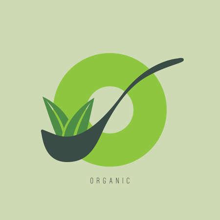 Ontwerp van biologisch voedsel.