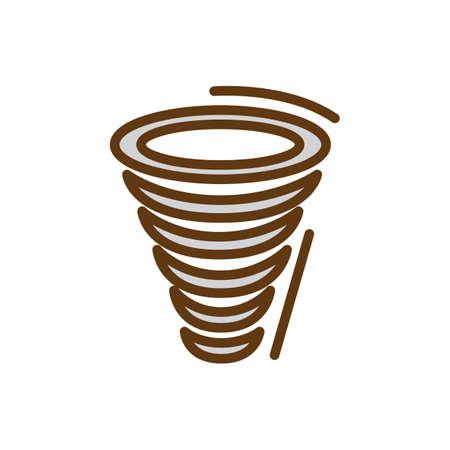 Tornado icon. Illusztráció
