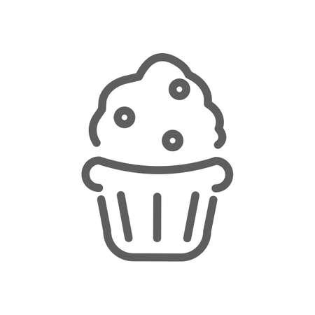 Cupcake icon. Reklamní fotografie - 77161645
