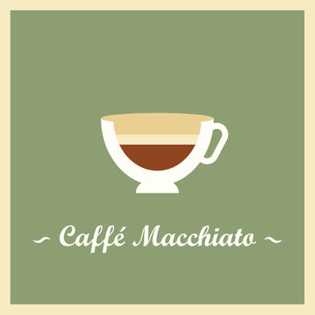 caffe: Caffe macchiato Illustration
