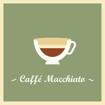 Caffe macchiato Illustration