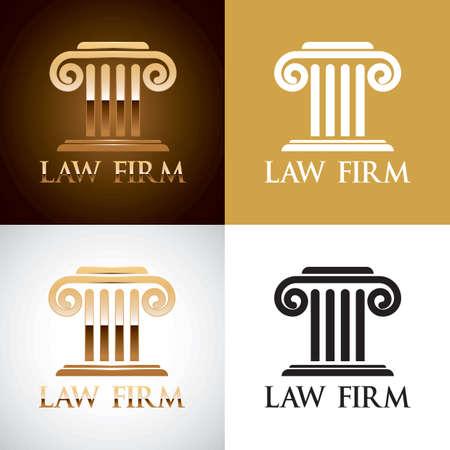 Law firm logo element Illustration
