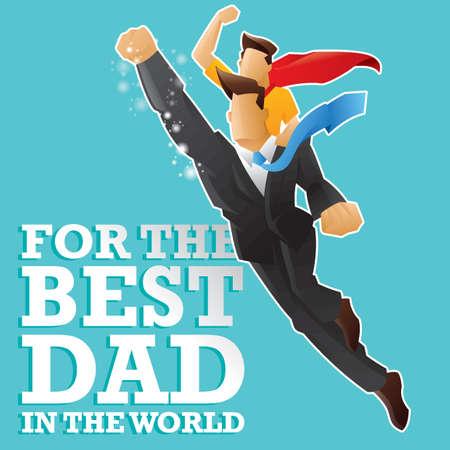 super dad: Best dad in the world design. Illustration
