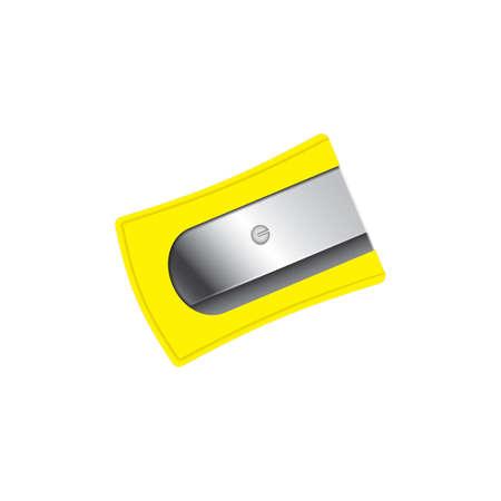 黄色の鉛筆削り。  イラスト・ベクター素材