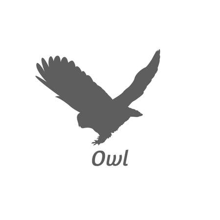 Silhouette of owl. Иллюстрация
