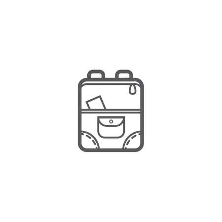 Backpack icon. Illustration