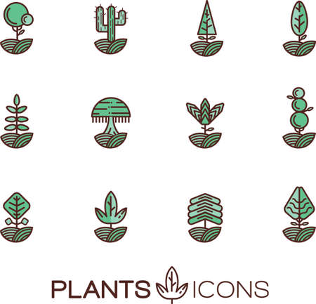 Set van planten iconen