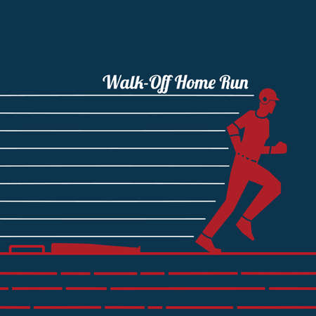Walk-off home run Ilustrace