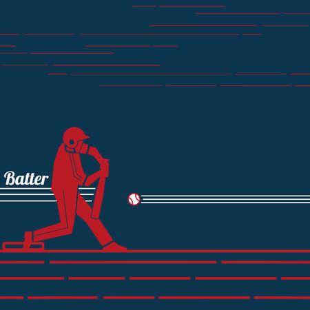 Baseball batter Ilustrace