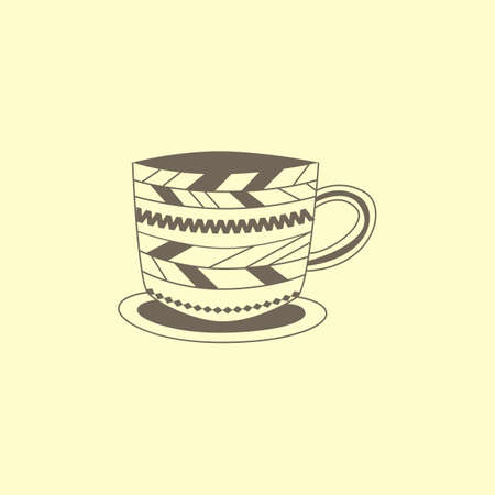 Cup met patroon Stock Illustratie