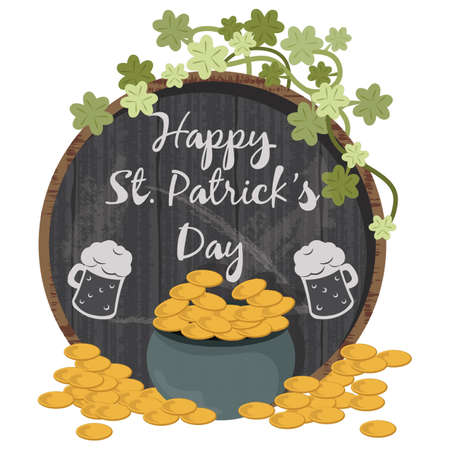 Happy st patricks day design.