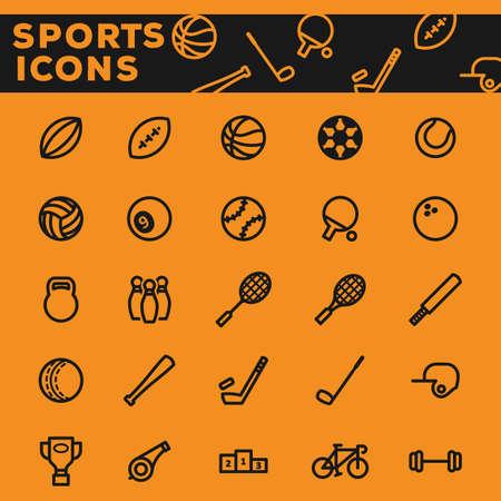 Set van sport pictogrammen. Stock Illustratie