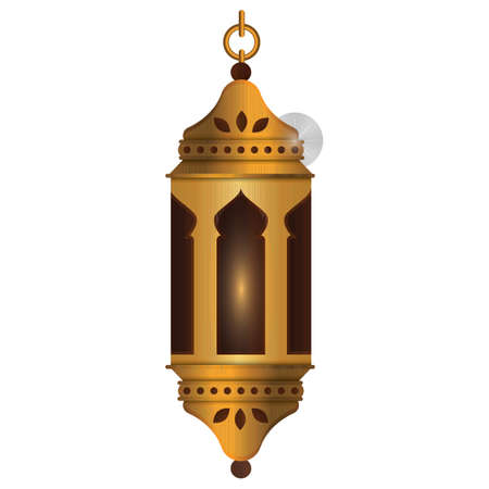 Arabic lamp. Illustration