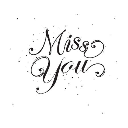 Miss you text.