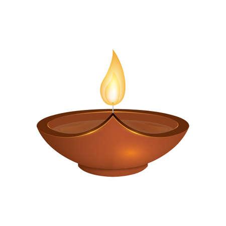 Lámpara de Diwali.