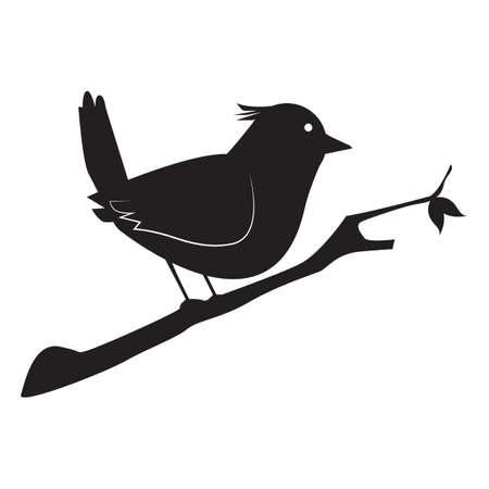 Silhouette des Vogels Standard-Bild - 77318158