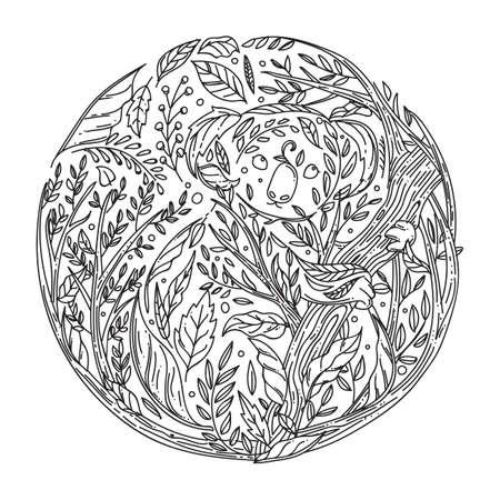Conception de feuilles Intricate Banque d'images - 77165164