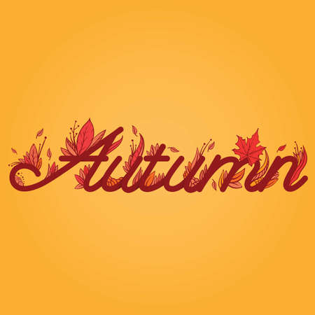 autumn lettering design