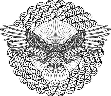 Conception de hibou de conte de Banque d'images - 77320458