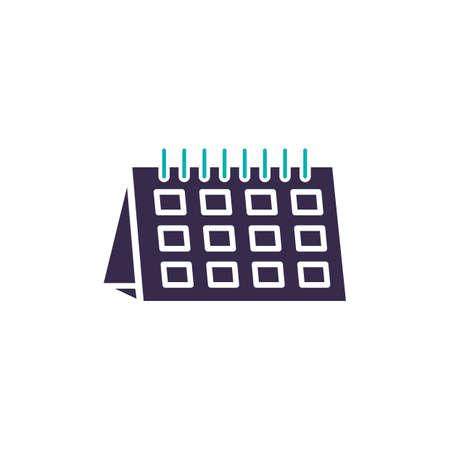 Calendar on a white color. Illusztráció