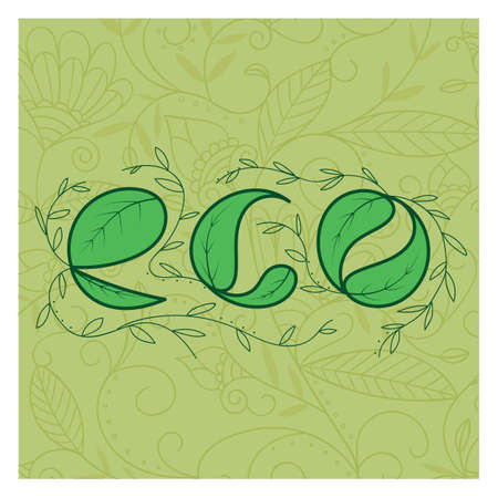 eco lettering design Stock fotó - 77320185