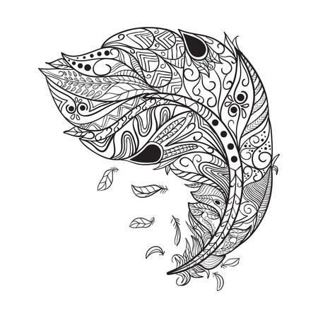 複雑な羽デザイン