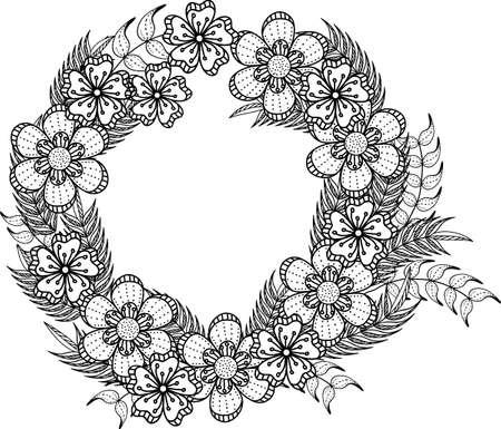 intricate flower wreath design
