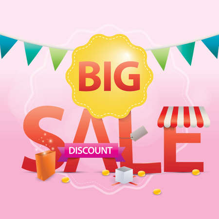 big sale lettering design Stock Vector - 77320223