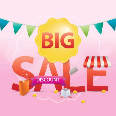 big sale lettering design