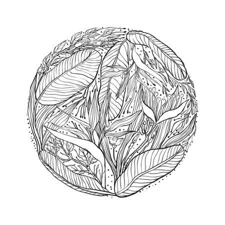 intricate leaves design