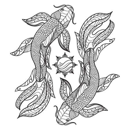 複雑な金魚デザイン