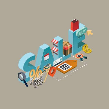 sale lettering design