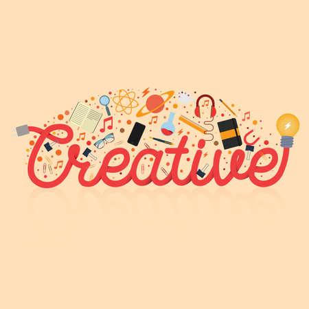 creative lettering design Çizim