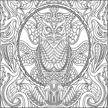 intricate owl design