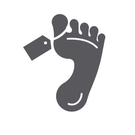 Foot with tag
