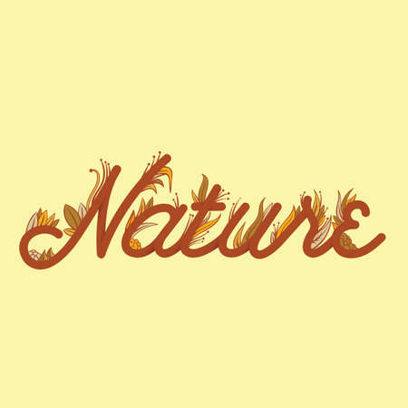 nature lettering design Illustration