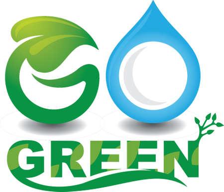 Go green lettering design Illustration