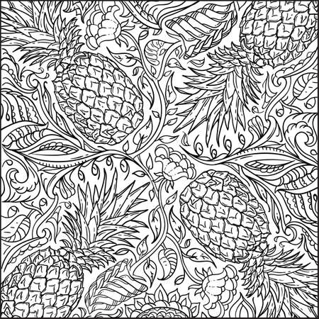 intricate pineapple design