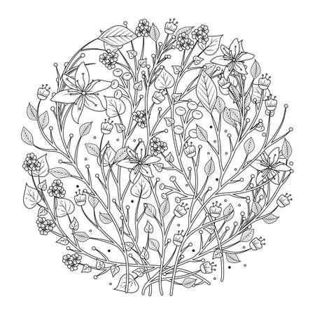intricate floral design Ilustração
