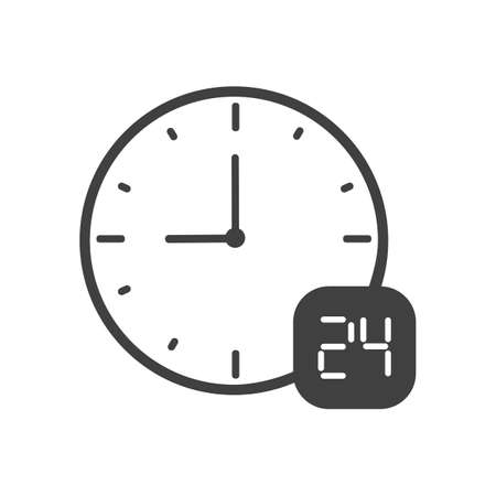 24 hours icon Stock Vector - 77500755