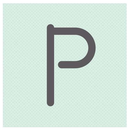 letter p Ilustração