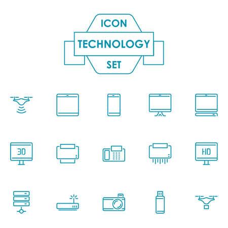 Reihe von technologischen Symbolen Standard-Bild - 77320713