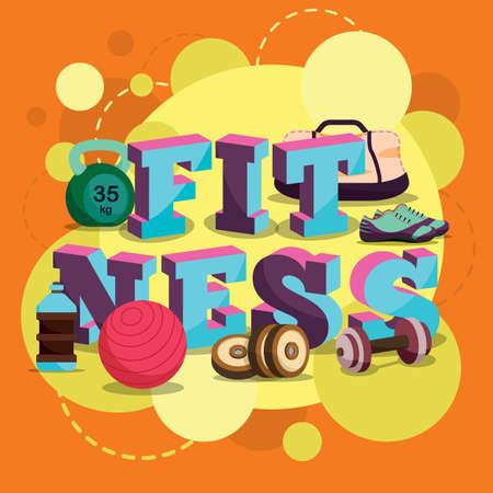 fitness lettering design Çizim