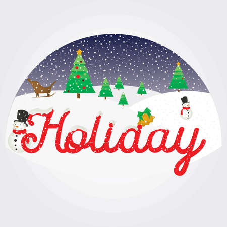 holiday lettering design