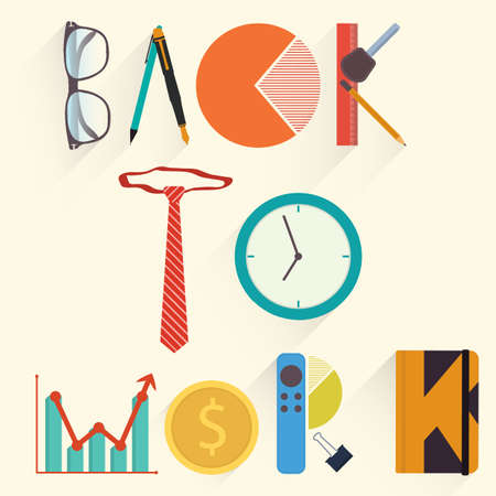 Back to work lettering design