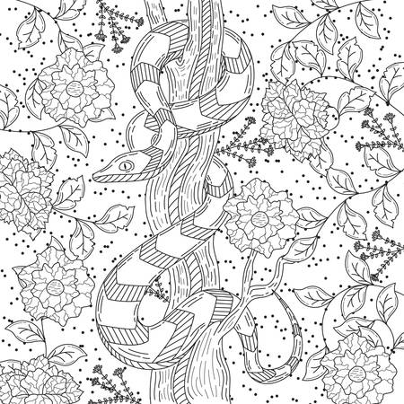intricate snake design 版權商用圖片 - 77321005