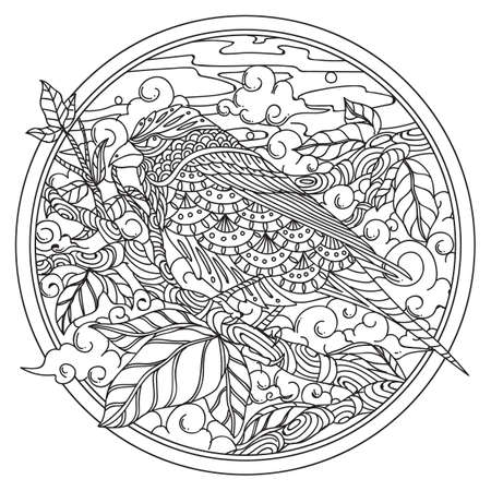 intricate bird design