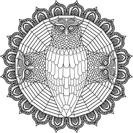 Conception de hibou de conte de Banque d'images - 77420014