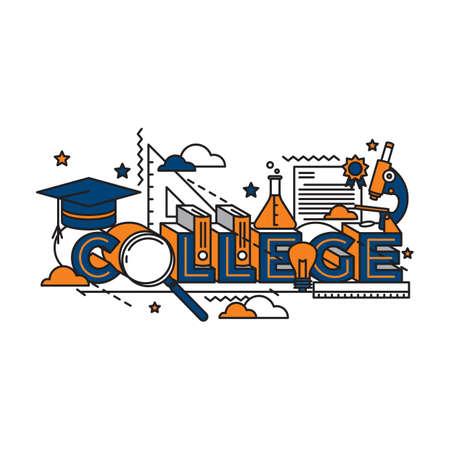 college lettering design