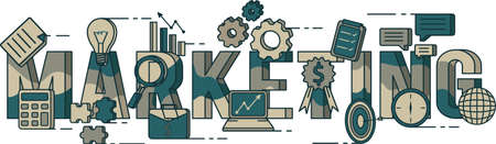 Diseño de letras de marketing Foto de archivo - 77321269